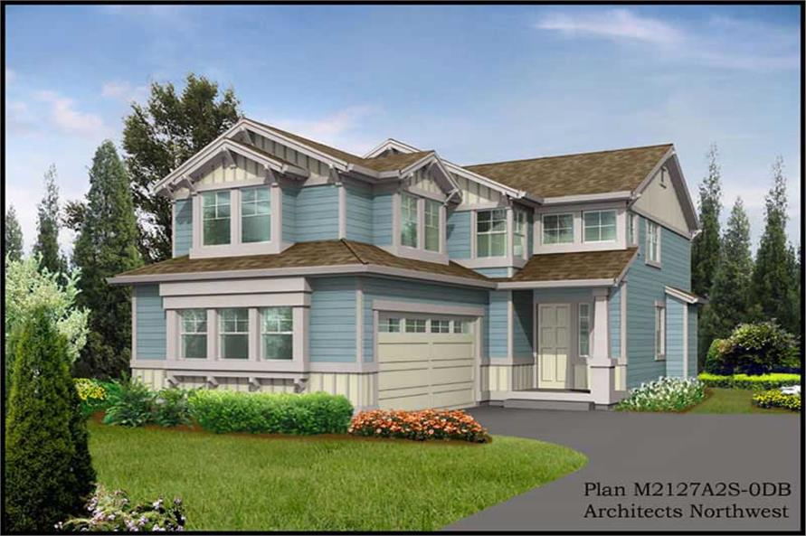 5-Bedroom, 3103 Sq Ft Multi-Level Home Plan - 115-1098 - Main Exterior