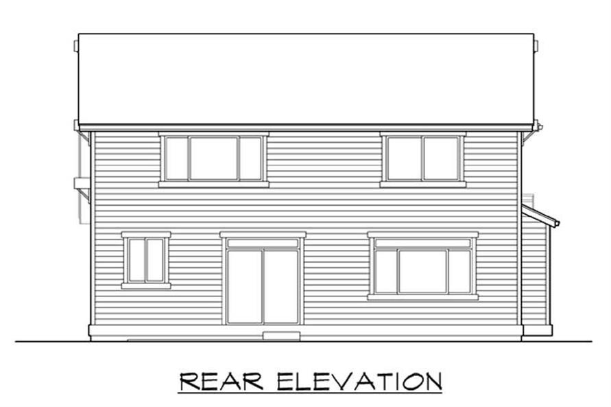 Home Plan Rear Elevation of this 4-Bedroom,2294 Sq Ft Plan -115-1106
