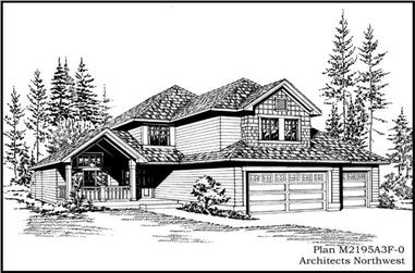 4-Bedroom, 2195 Sq Ft Ranch House Plan - 115-1108 - Front Exterior