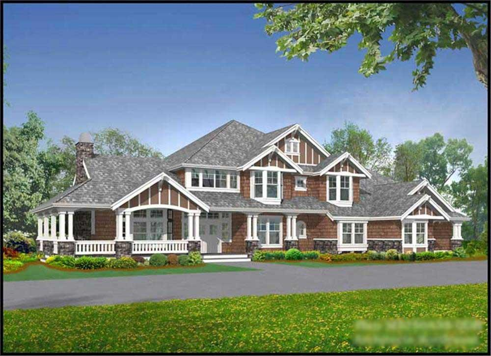 Front elevation of Country home (ThePlanCollection: House Plan #115-1112)