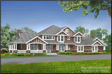 5-Bedroom, 6590 Sq Ft Country Home Plan - 115-1112 - Main Exterior