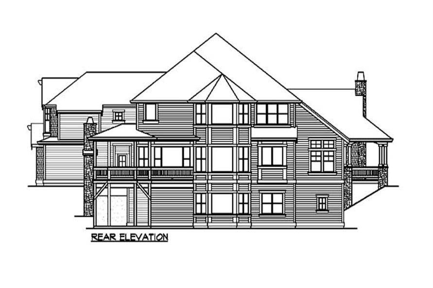 Home Plan Rear Elevation of this 5-Bedroom,6590 Sq Ft Plan -115-1112
