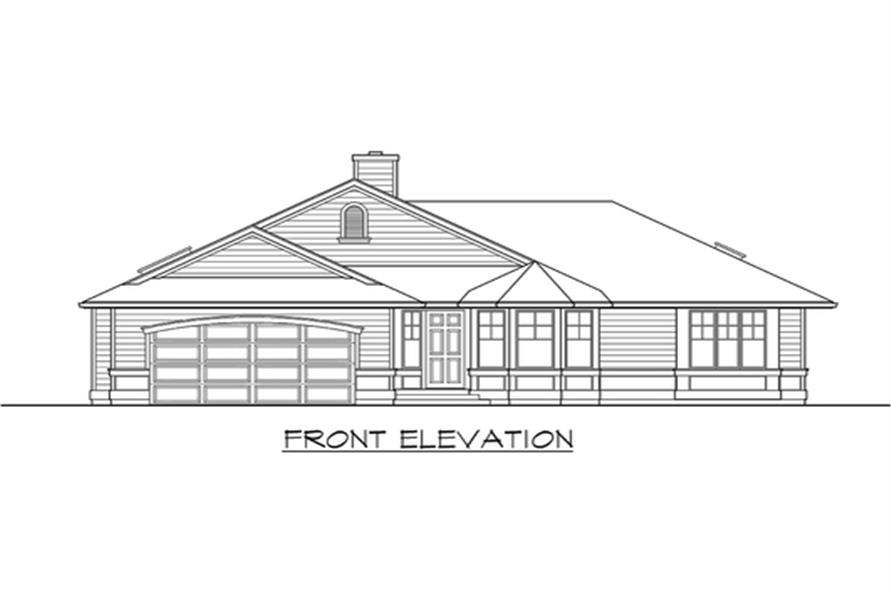 Home Plan Front Elevation of this 3-Bedroom,1654 Sq Ft Plan -115-1113