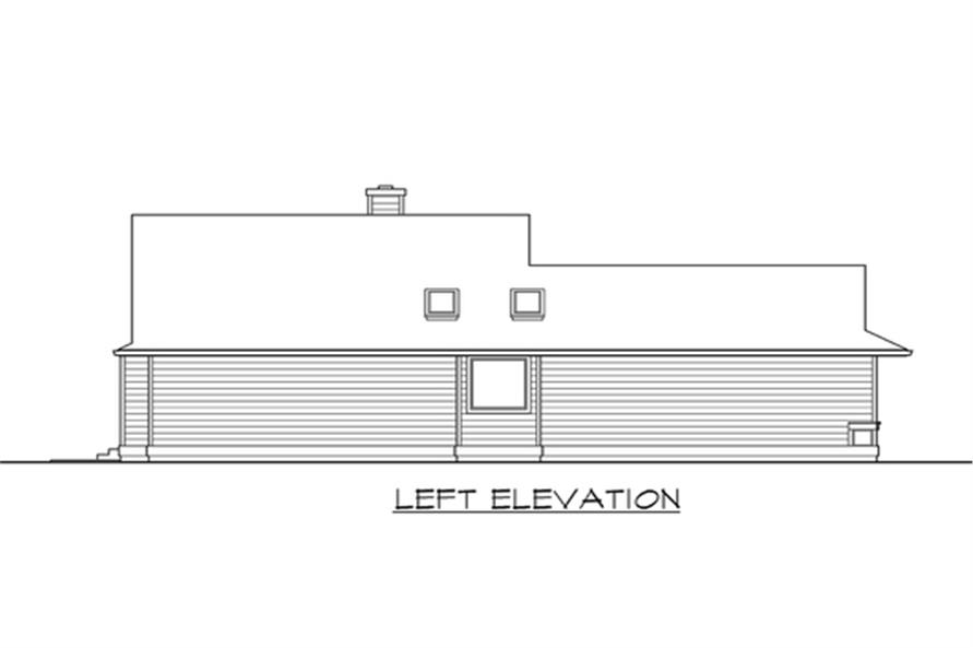 Home Plan Left Elevation of this 3-Bedroom,1654 Sq Ft Plan -115-1113