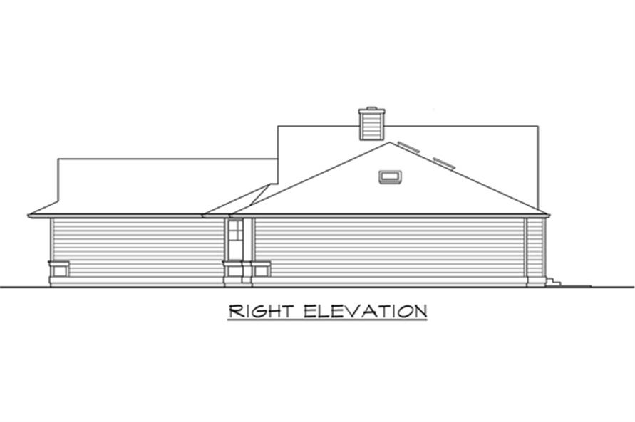 Home Plan Right Elevation of this 3-Bedroom,1654 Sq Ft Plan -115-1113