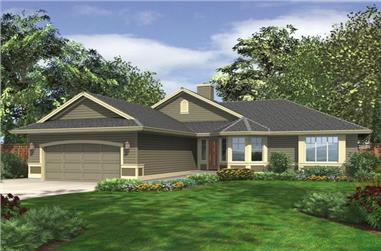 3-Bedroom, 1654 Sq Ft Ranch Home Plan - 115-1113 - Main Exterior