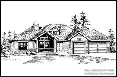 4-Bedroom, 2635 Sq Ft Craftsman House Plan - 115-1117 - Front Exterior