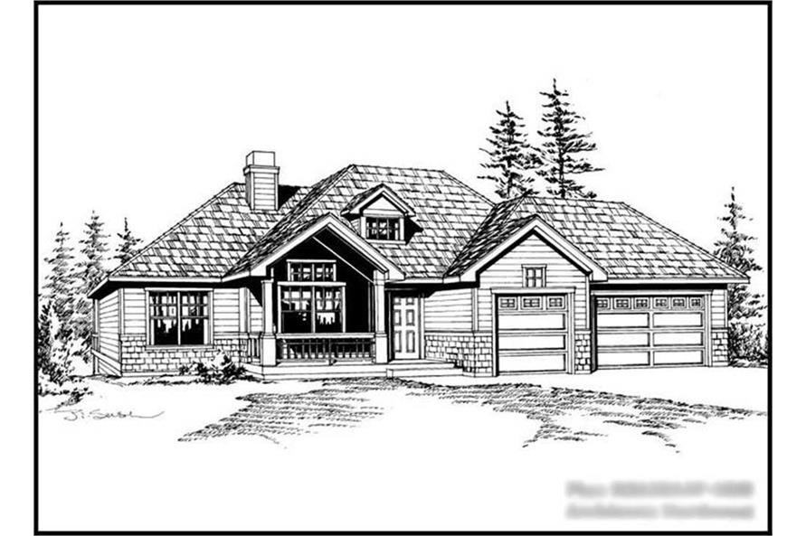 4-Bedroom, 2635 Sq Ft Craftsman House Plan - 115-1117 - Front Exterior