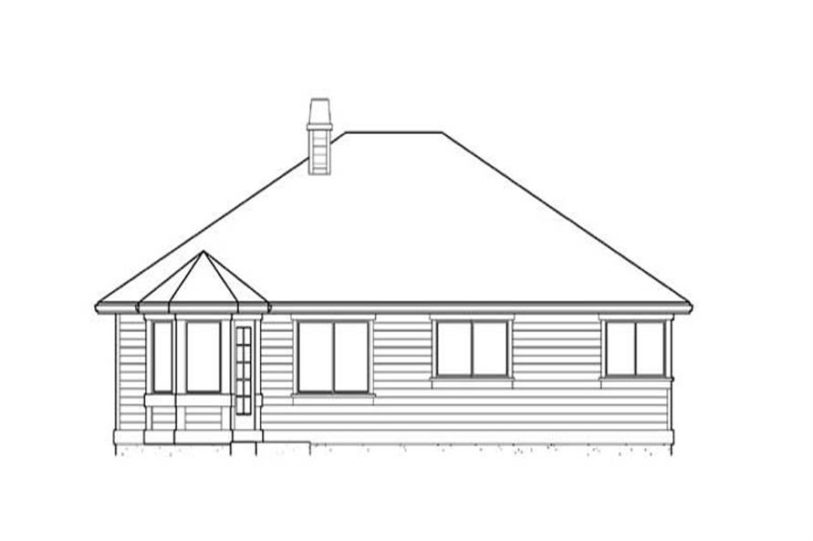 Home Plan Rear Elevation of this 3-Bedroom,1625 Sq Ft Plan -115-1118