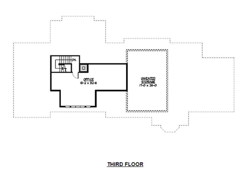 115-1120: Floor Plan Third Story