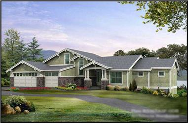 4-Bedroom, 5367 Sq Ft Luxury House Plan - 115-1121 - Front Exterior