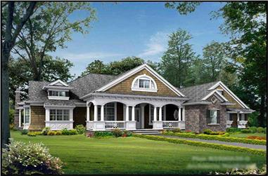 4-Bedroom, 3500 Sq Ft Country Home Plan - 115-1124 - Main Exterior