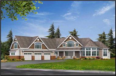 4-Bedroom, 5180 Sq Ft Luxury Home Plan - 115-1125 - Main Exterior