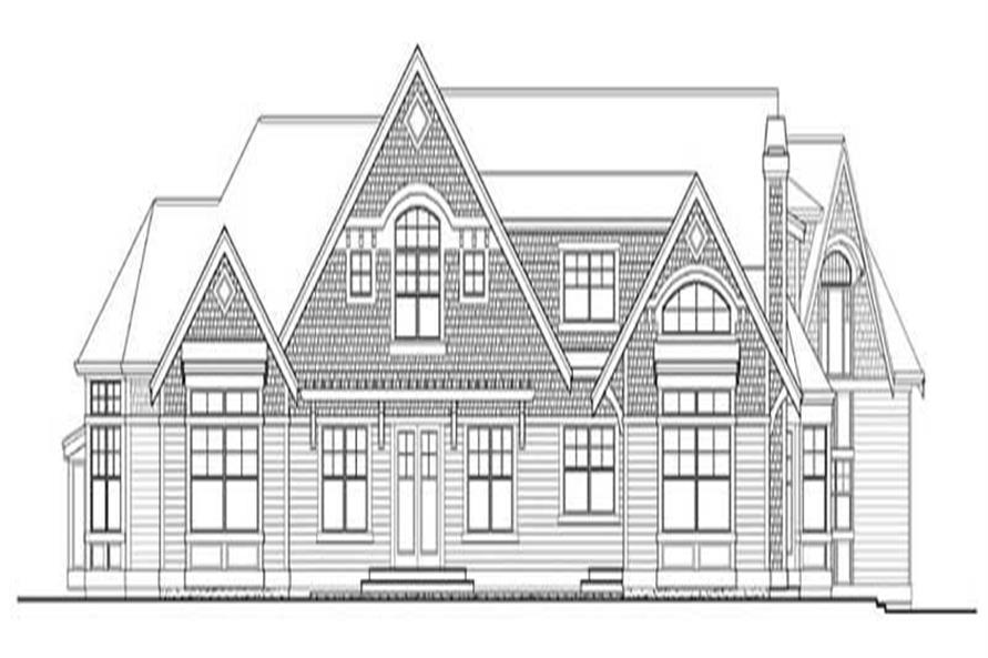 Home Plan Rear Elevation of this 4-Bedroom,5180 Sq Ft Plan -115-1125
