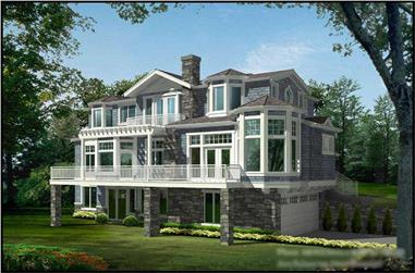 4-Bedroom, 4036 Sq Ft Multi-Level Home Plan - 115-1127 - Main Exterior
