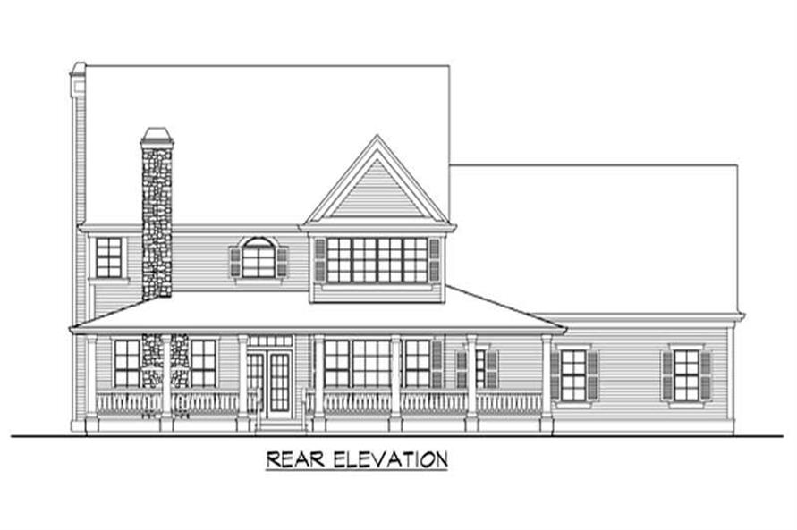 Home Plan Rear Elevation of this 4-Bedroom,4552 Sq Ft Plan -115-1128