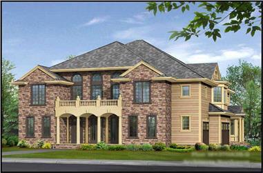 4-Bedroom, 4370 Sq Ft European Home Plan - 115-1129 - Main Exterior