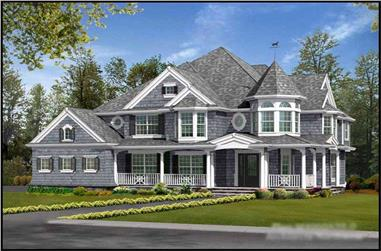 4-Bedroom, 4145 Sq Ft Victorian Home Plan - 115-1130 - Main Exterior