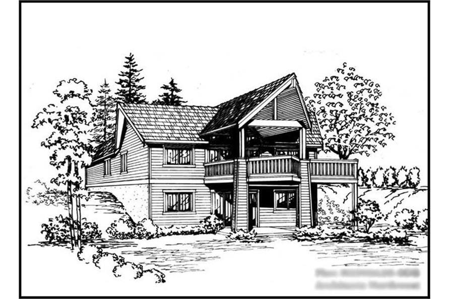 4-Bedroom, 2292 Sq Ft Log Cabin Home Plan - 115-1131 - Main Exterior