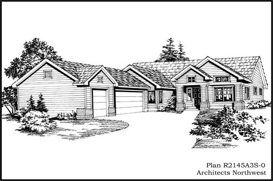 3-Bedroom, 2145 Sq Ft Ranch Home Plan - 115-1132 - Main Exterior