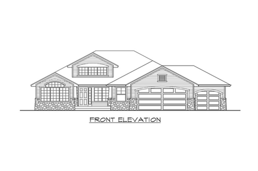 Home Plan Front Elevation of this 3-Bedroom,2035 Sq Ft Plan -115-1133