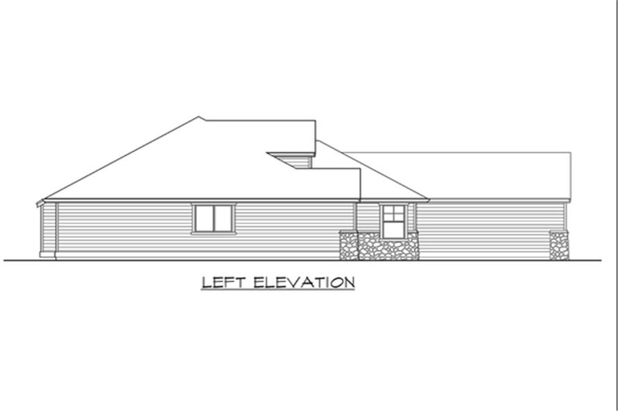Home Plan Left Elevation of this 3-Bedroom,2035 Sq Ft Plan -115-1133