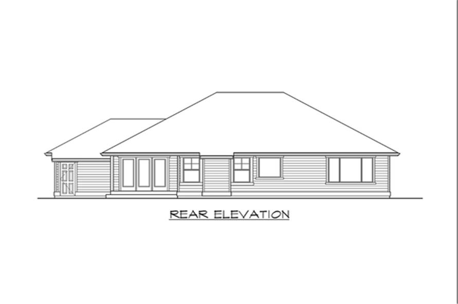 Home Plan Rear Elevation of this 3-Bedroom,2035 Sq Ft Plan -115-1133