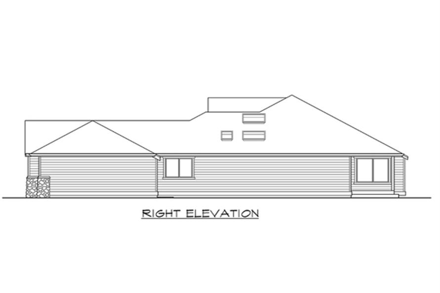 Home Plan Right Elevation of this 3-Bedroom,2035 Sq Ft Plan -115-1133