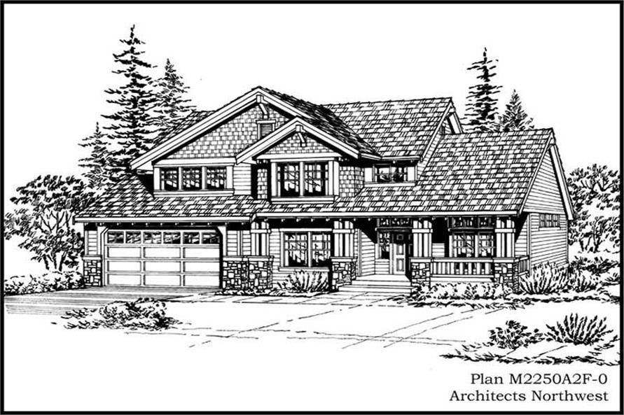 3-Bedroom, 2250 Sq Ft Country House Plan - 115-1135 - Front Exterior