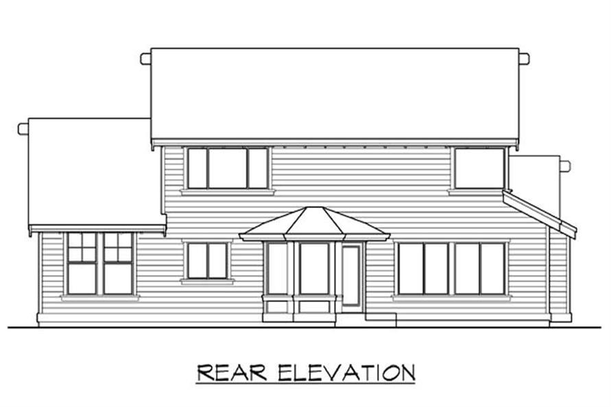 Home Plan Rear Elevation of this 3-Bedroom,2250 Sq Ft Plan -115-1135