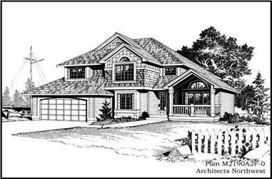 3-Bedroom, 2190 Sq Ft Country House Plan - 115-1136 - Front Exterior