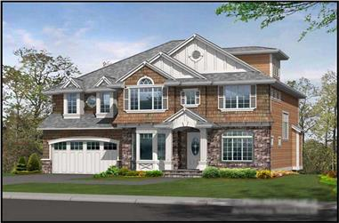 5-Bedroom, 3440 Sq Ft Craftsman House Plan - 115-1137 - Front Exterior