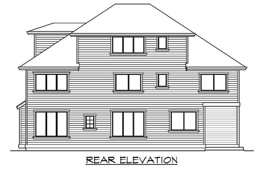 Home Plan Rear Elevation of this 5-Bedroom,3440 Sq Ft Plan -115-1137