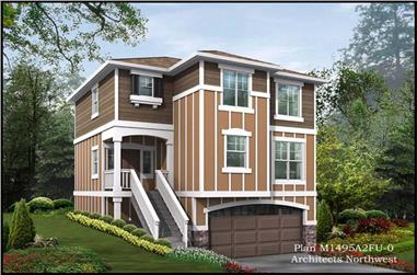 3-Bedroom, 1495 Sq Ft Small House Plans - 115-1138 - Main Exterior
