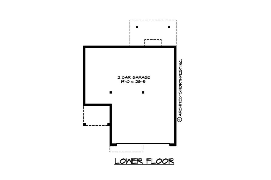 Home Plan Rear Elevation of this 3-Bedroom,1495 Sq Ft Plan -115-1138