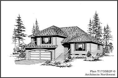 3-Bedroom, 1735 Sq Ft Craftsman Home Plan - 115-1140 - Main Exterior
