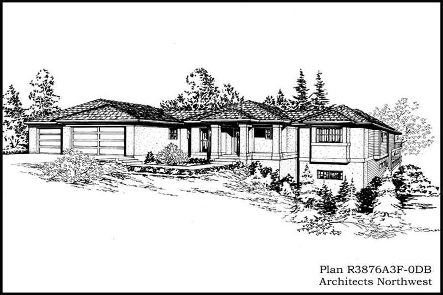 4-Bedroom, 3876 Sq Ft Mediterranean Home Plan - 115-1141 - Main Exterior