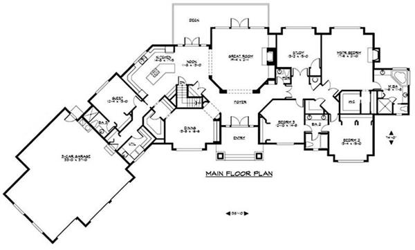 Craftsman luxury home with 4 bedrms 7372 sq ft plan for Huge house floor plans