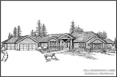 4-Bedroom, 7372 Sq Ft Craftsman Home Plan - 115-1142 - Main Exterior