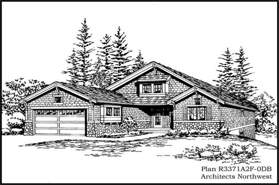 4-Bedroom, 3371 Sq Ft Ranch Home Plan - 115-1143 - Main Exterior