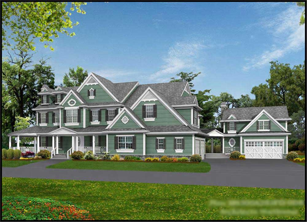 country - farmhouse home with 4 bedrms, 7950 sq ft | plan #115-1144