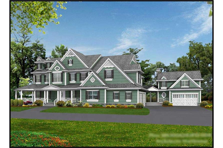 4-Bedroom, 7950 Sq Ft Country Home Plan - 115-1144 - Main Exterior