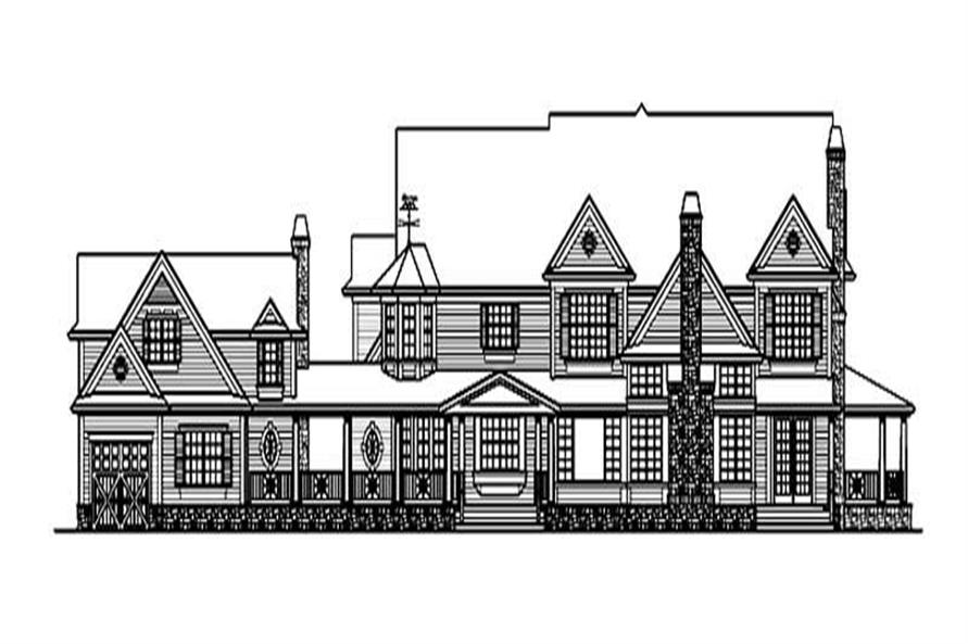 Home Plan Rear Elevation of this 4-Bedroom,7950 Sq Ft Plan -115-1144
