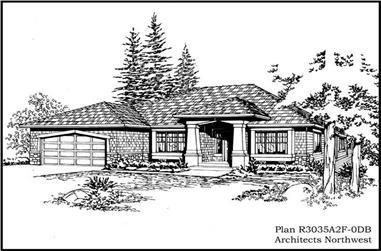 4-Bedroom, 3035 Sq Ft Mediterranean House Plan - 115-1145 - Front Exterior