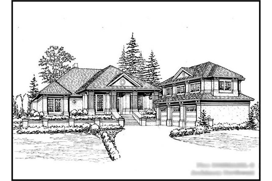 4-Bedroom, 4050 Sq Ft Craftsman Home Plan - 115-1147 - Main Exterior