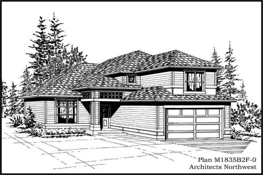 4-Bedroom, 1835 Sq Ft Craftsman House Plan - 115-1149 - Front Exterior