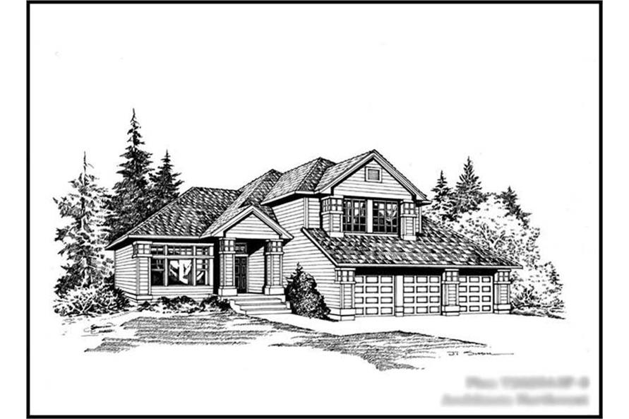 3-Bedroom, 2025 Sq Ft Craftsman Home Plan - 115-1150 - Main Exterior