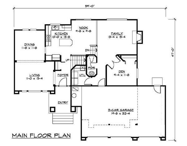 115-1150: Floor Plan Main Level