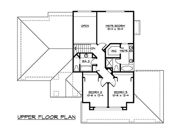 115-1150: Floor Plan Upper Level