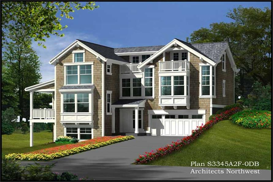 3-Bedroom, 3345 Sq Ft Luxury Home Plan - 115-1151 - Main Exterior